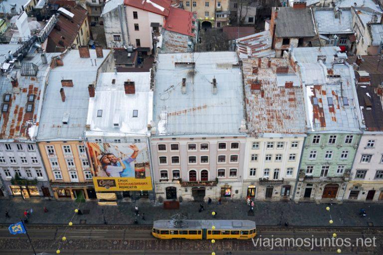 Vistas desde la Torre del Ayuntamiento de Leópolis. Ucrania