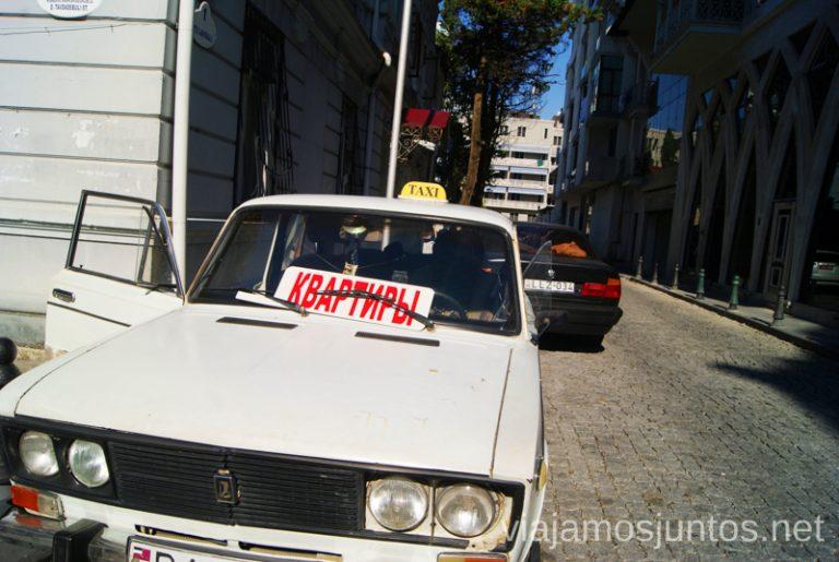 Taxistas también ofrecen... alquileres.