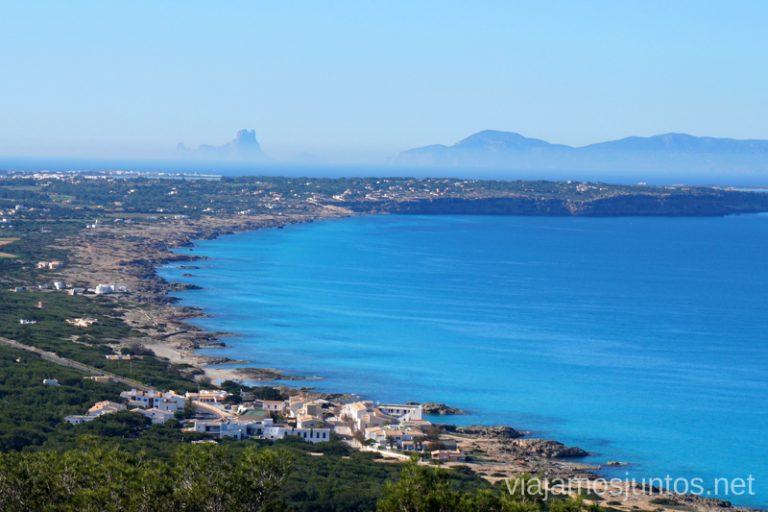Vistas de Formentera desde El Mirador. Un fin de semana en las Islas Baleares