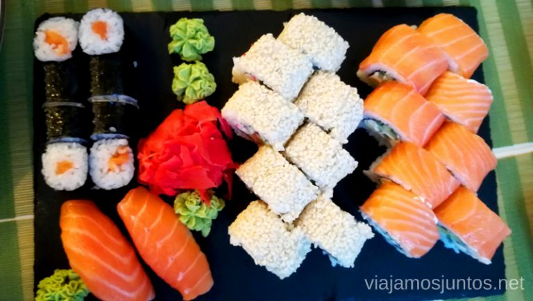 Ejemplo de un menú caro en Ucrania - sushi. Qué comer en Ucrania. Recetas de platos tradicionales ucranianos.