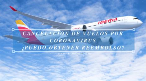 Cancelación de vuelos por coronavirus. COVID19. Según líneas aéreas.