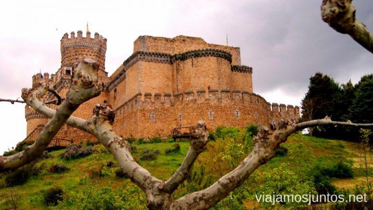 El castillo de Manzanares el Real, a 40 minutos de Madrid.