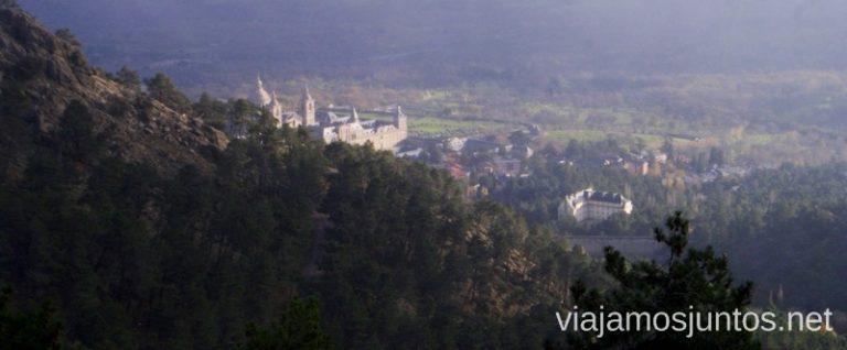 Vistas de San Lorenzo de Escorial desde sus montes.
