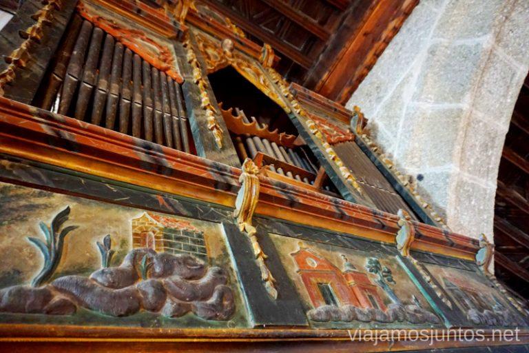 Uno de los órganos que puedes encontrar en las iglesias de Valle de Amblés y Sierra de Ávila.