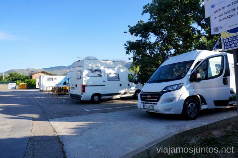 Área de autocaravanas de el Boalo, Comunidad de Madrid.