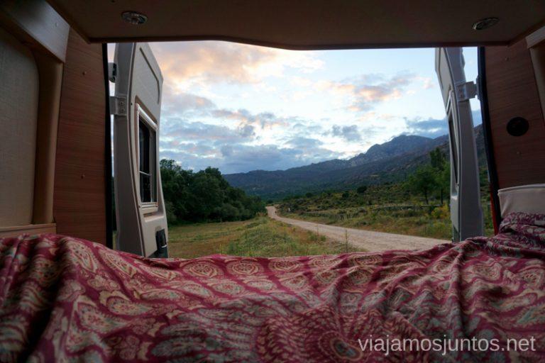 Justo antes de irnos a dormir - estas vistas de la Sierra de Guadarrama.