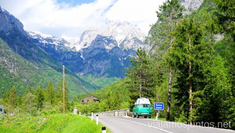 Vistas habituales en Eslovenia que tendrás si viajas en autocaravana o furgo. Qué ver y hacer en Eslovenia Campervan en Eslovenia #EsloveniaJuntos