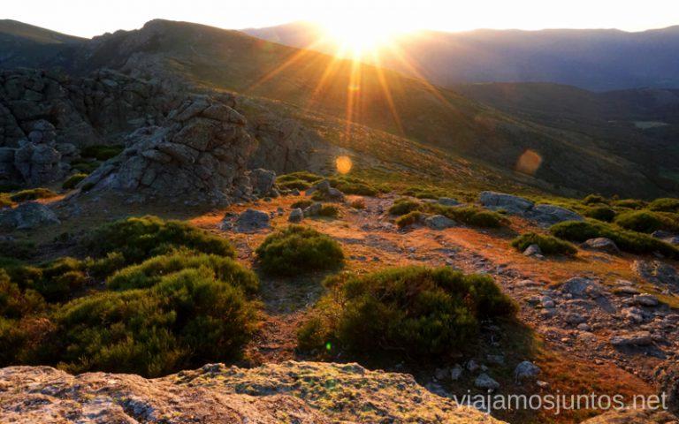Últimos rayos del sol sobre Peñalara.