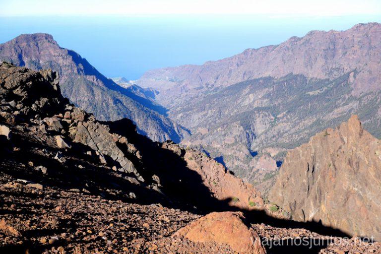 Caldera de Taburiento desde el Pico de la Nieve.