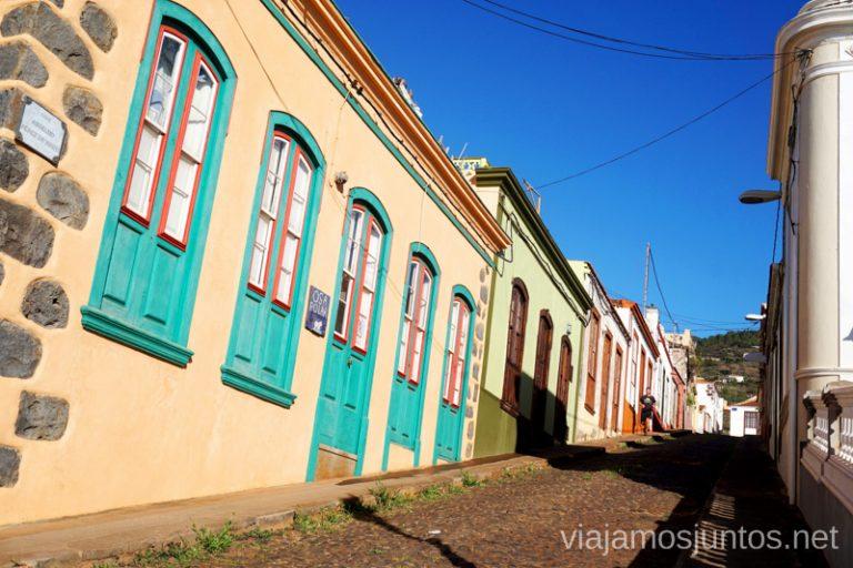 Santo Domingo de Garafía, calle en cuesta.