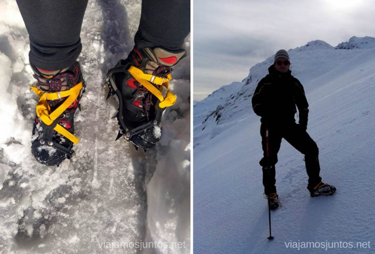 Asegúrate de saber usar el equipo invernal antes de salir de ruta.