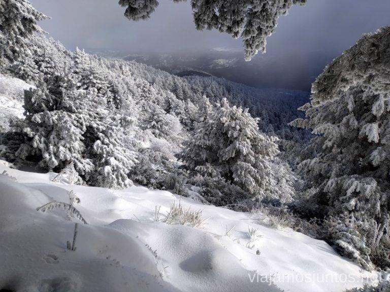 Paisajes nevados en la Sierra de Guadarrama. Consejos para realizar rutas de senderismo en invierno y con nieve.