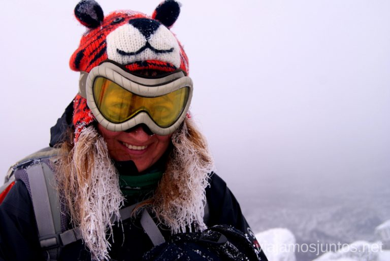 A veces hasta el pelo se congela. Consejos para realizar rutas de senderismo en invierno y con nieve.