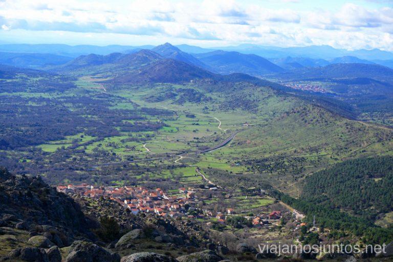 Vistas a la Sierra Oeste de Madrid desde la Machota Alta.