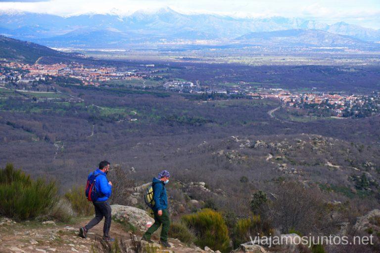 Camino de vuelta de la ruta de las Machotas desde San Lorenzo de El Escorial.