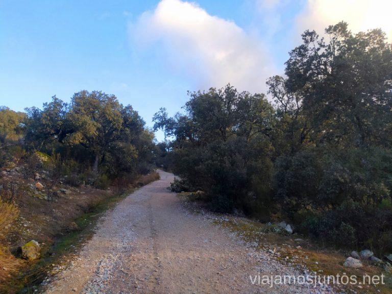 Comienzo de la ruta de los Molinos del Río Perales en Navalagamella por la Cañada Real Leones.