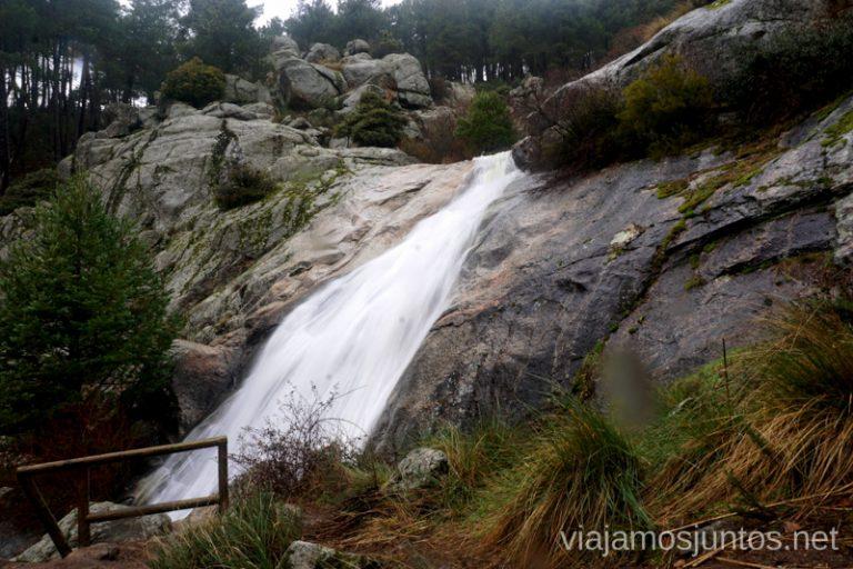 Cascada del Hornillo desde su mirador, Sierra Oeste de Madrid.