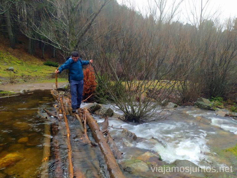 Cruzando el arroyo del Hornillo.