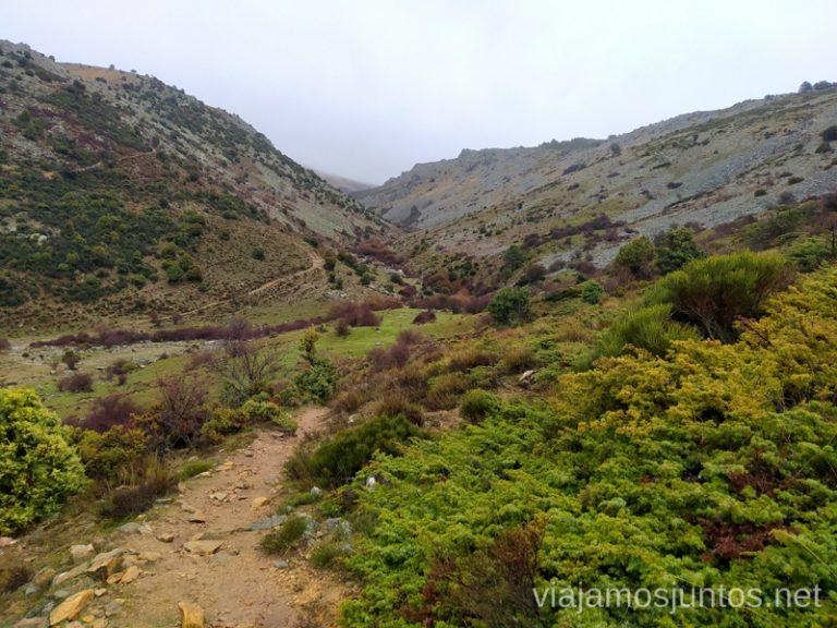 Vistas solitarias del valle del río Aceña, en la Sierra Oeste de Madrid.