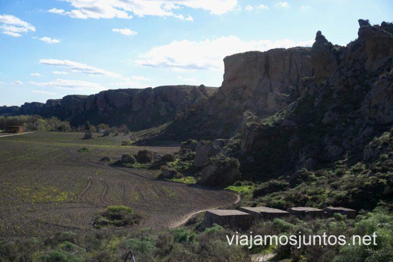 Los cortados, o cerros, de la Marañosa desde los Bunkers.