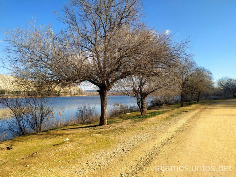 Así es gran parte de la ruta alrededor de la Laguna del Campillo - una cómoda pista.