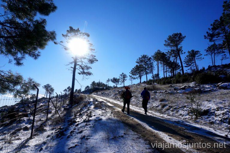 De camino al Risco Grande. Ruta de senderismo al Cerro o Risco de Santa Catalina.
