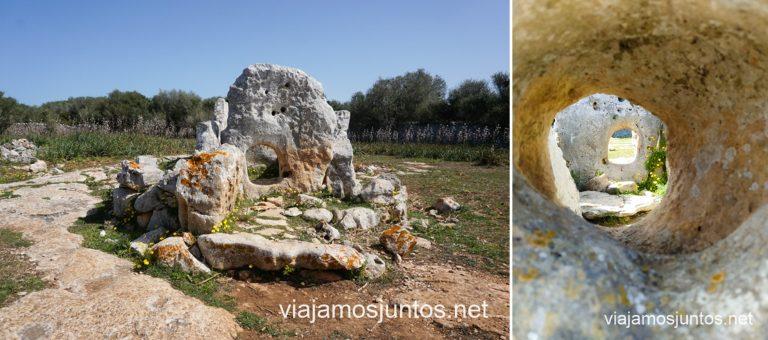 Dolmen Ses Roques Llises Ruta por monumentos prehistóricos de Menorca.