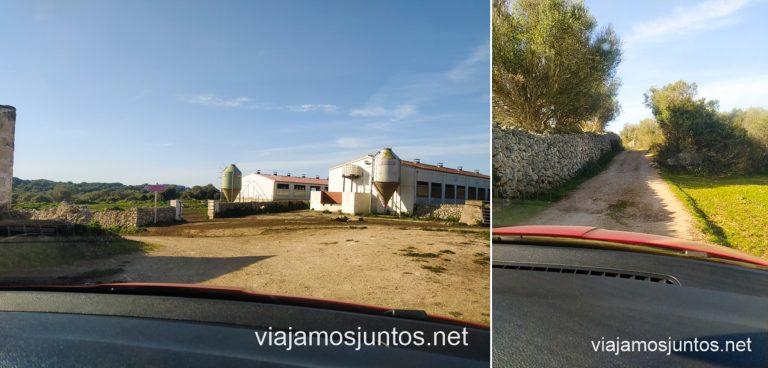 Carretera de acceso al poblado pretalayótico Son Mercer de Baix, Menorca.