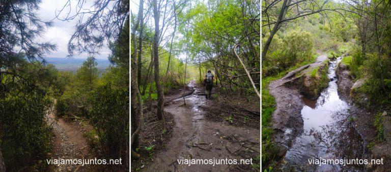 Caminos y sendas de la ruta Cancho de la Cabeza desde Patones de Arriba, Madrid.