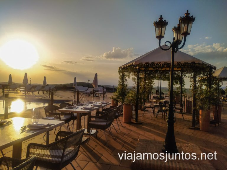 Vistas al atardecer desde el hotel La Caminera, Valdepeñas, Castilla-la Mancha.
