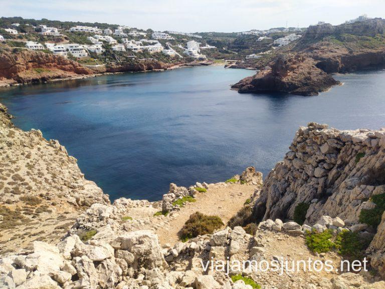Vistas desde Es Coll de Cala Morell. Ruta por monumentos prehistóricos de Menorca.