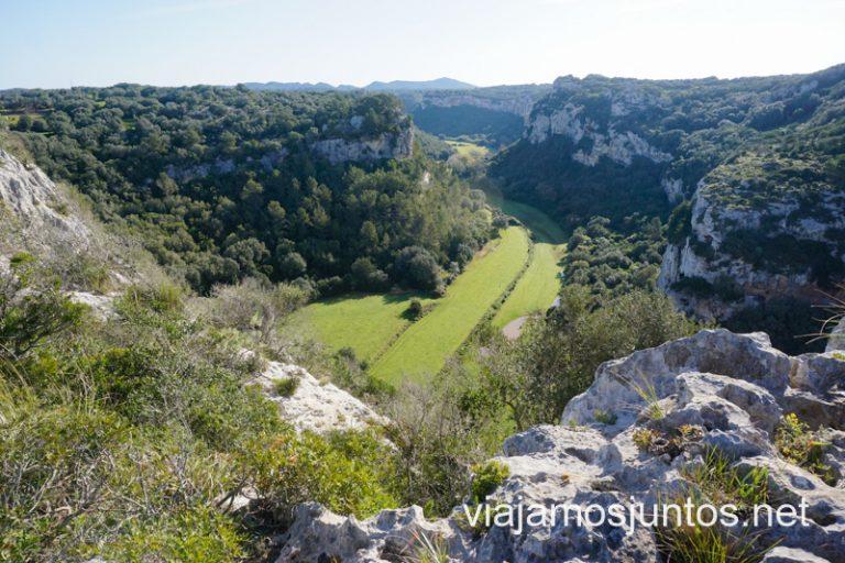 Vistas al barranco de Sa Cova. Menorca