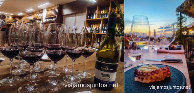 Cata maridada en el Hotel La Caminera. Ruta del vino de Valdepeñas, Castilla-La Mancha.