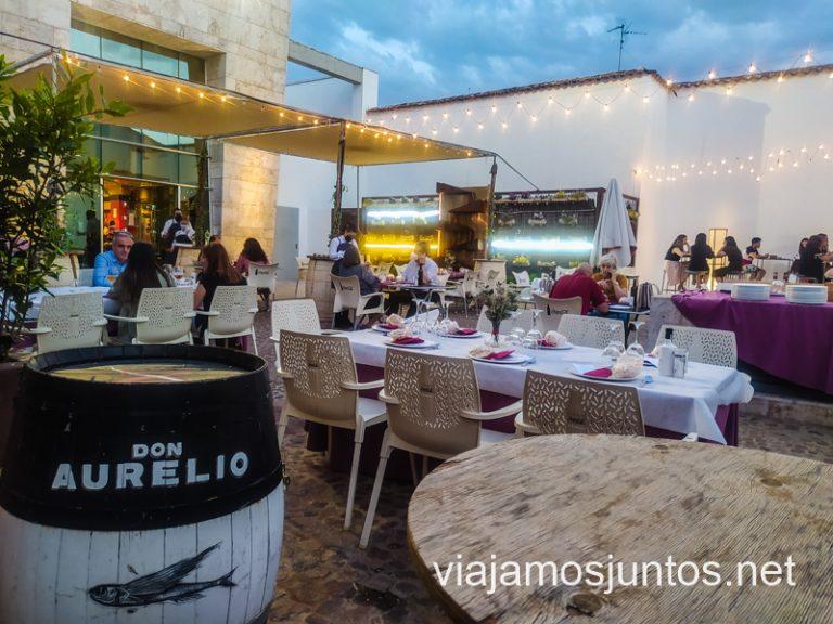 La Antigua Bodega Los Llanos, patio. Ruta del vino de Valdepeñas, Castilla-La Mancha.