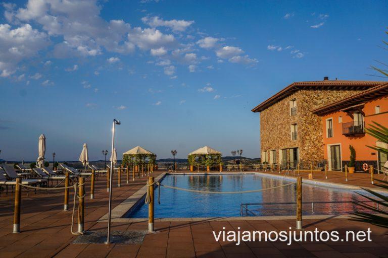 Instalaciones del Hotel La Caminera en la Ruta del Vino de Valdepeñas. Castilla-La Mancha.