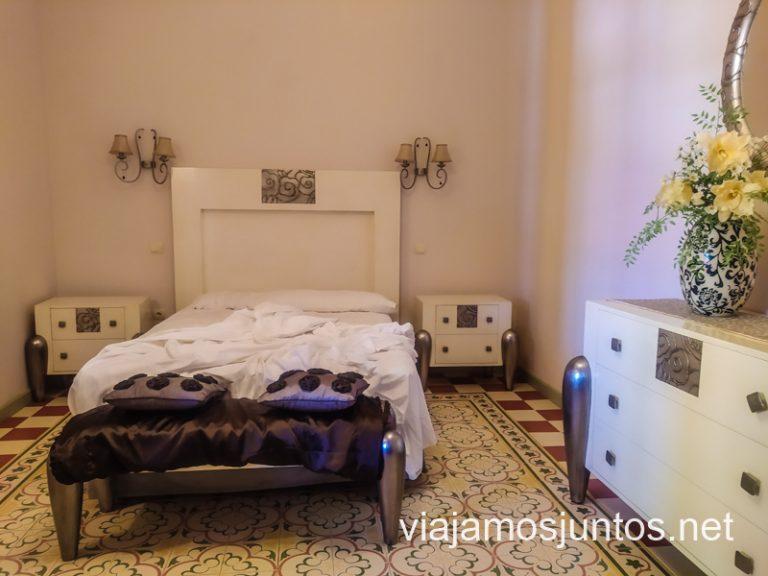 Habitación de la casa rural Doña Elisa. Ruta del vino de Valdepeñas, Castilla-La Mancha.