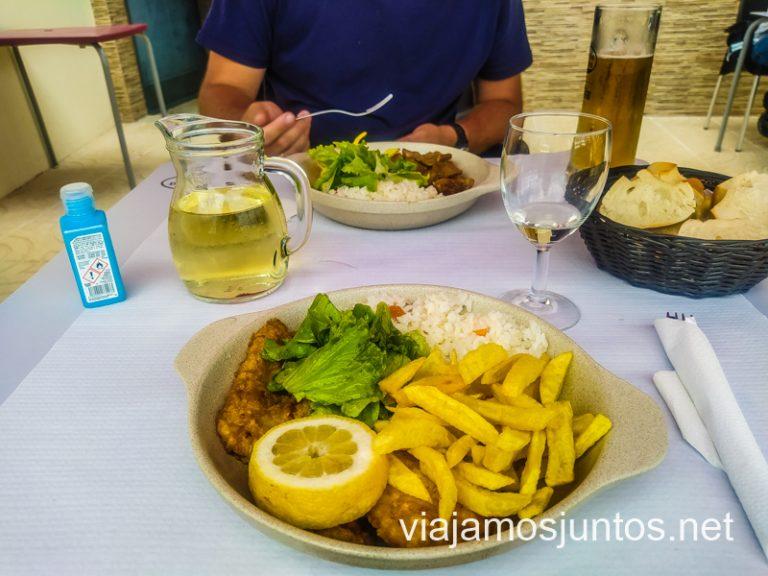 Nuestros platos abundantes en Café Suzy, Braga.