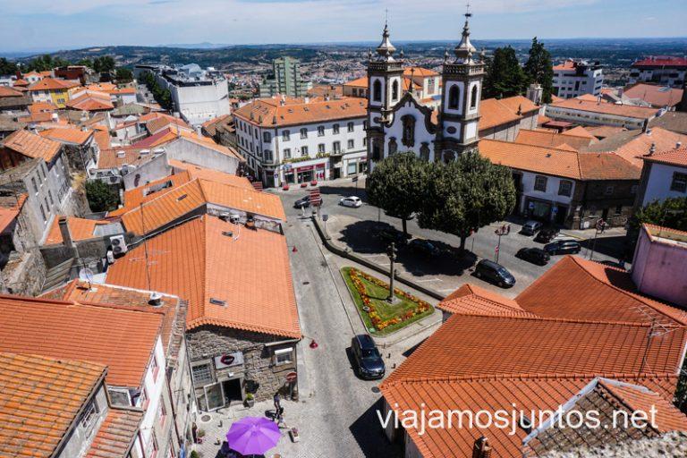 Vistas de Guarda desde la torre de vigía. Ruta por el Norte de Portugal.