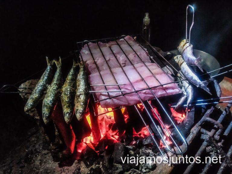 BBQ en el Camping Costa Nova. Consejos para organizar tu viaje por el Norte de Portugal.
