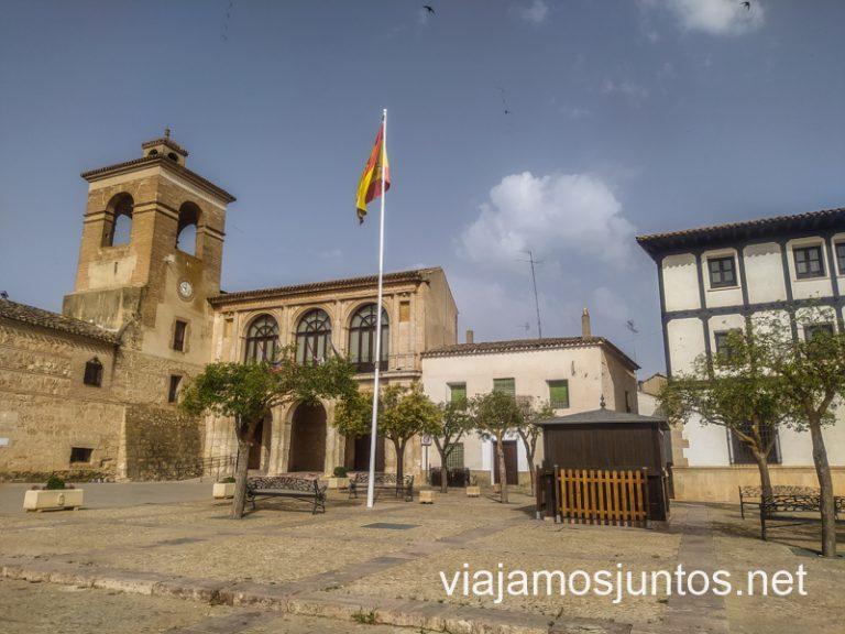 Plaza Mayor de Villanueva de la Jara, La Manchuela, Castilla-la Mancha.